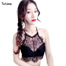Buy Fatimu Sexy Floral Lace Wire Bra Bustier Sheer Seamless Bralette Transparent Cup Wireless Brassiere Lingerie Lace Push Bras