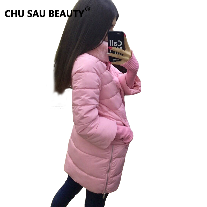 1950s Winter Jacket Women 2016 New Europe Style Fashion Loose Medium Long Autumn Winter Plus Size Down Parkas Lady Down Coat HotОдежда и ак�е��уары<br><br><br>Aliexpress