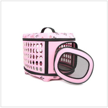 Portable Storage Folding Pet Dog Carrier Bags Small Dog Cat Puppy Pet Travel Tote Shoulder Bag Cage Crate 43*29*35CM