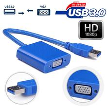 1080P HD USB 3.0/2.0 to VGA Graphic Card Video Converter Adapter For Win7/8 Vista Laptop pc