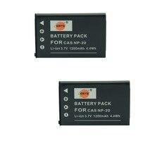 DSTE 2 шт. NP-20 Перезаряжаемые Батарея для Casio Exilim ex-m1 m2 EM20 m20u S1 S100 s100we s1pm S2 S20 s20u цифровой Камера(China)