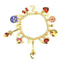 Buy 2New Sailor Moon Shielded Star Crystal Bracelet & Bangle Enamel Stars,Pentacle Charms Anime Cosplay Jewelry Girls/Women for $1.44 in AliExpress store