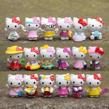 18pcs/lot Limited Edition Hello Kitty Toys Cute Kitty Cat PVC Action Figures Toy Doll Classic Toys for Kids Girls Christmas Gift