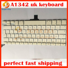 perfect testing brand new A1342 UK keyboard for macbook 13.3'' A1342 uk keyboard clavier without backlight backlit 2009 2010year(China)
