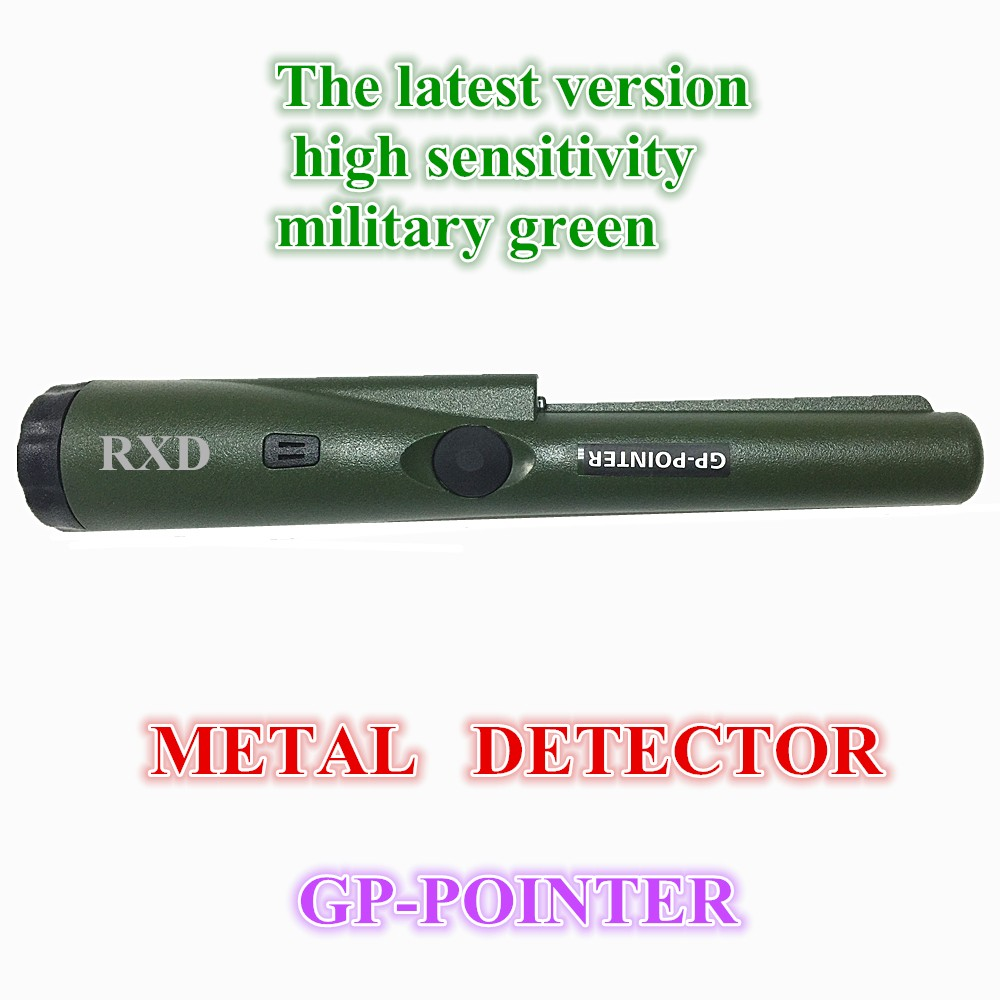 SHRXY metal detector GP-pointer gold detector high sensitivity Static Detection Russia Army Green color with Bracelet<br>