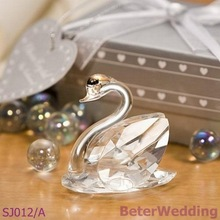 wedding favor gift and giveaways for bridesmaid guest -- Choice Crystal Collection Lovely Swans Bridal Shower Favors 100pcs/lot