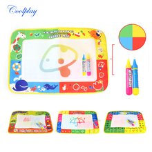 3 Style Baby Kids Add Water with 2pcs Magic Pen Doodle Painting Picture Drawing Play Rug Russian Board Kids Educational Gift(China)