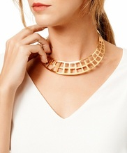 Timeless Wonder Classy Cutout Geo Bib Chunky Statement Necklace Bijoux Collar Girl Club Office Runway Match Gift Rare Heavy 4552(China)