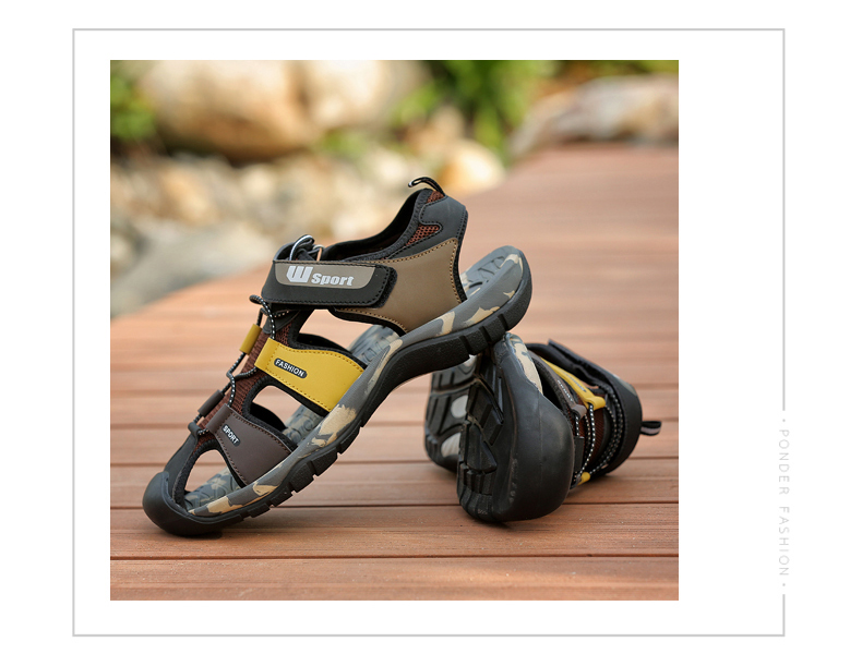 Leader Show Men Fashion Casual Shoes Summer New Adult Outdoor Beach Shoes High Quality Comfortable Man Baotou Sandals Breathable 14 Online shopping Bangladesh