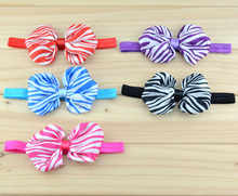 20 pcs/lot , Zebra Striped Bow headband