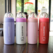 400ML Cute Hello Kitty Thermos Stainless Steel Termos Children Thermocup Vacuum Travel Cup Creative Mighty Mug