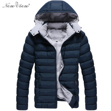 2017 Men Winter Coat Thick Warm Cotton Padded Casual Jacket Men Feather Hoodies Overcoat Plus Size Parka Male Jaqueta Masculina