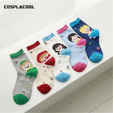 Cute Cartoon Pattern New Socks Women Character Creative Girls/Boys Pattern Funny Socks Casual Harajuku Style Happy Socks Meias(China)