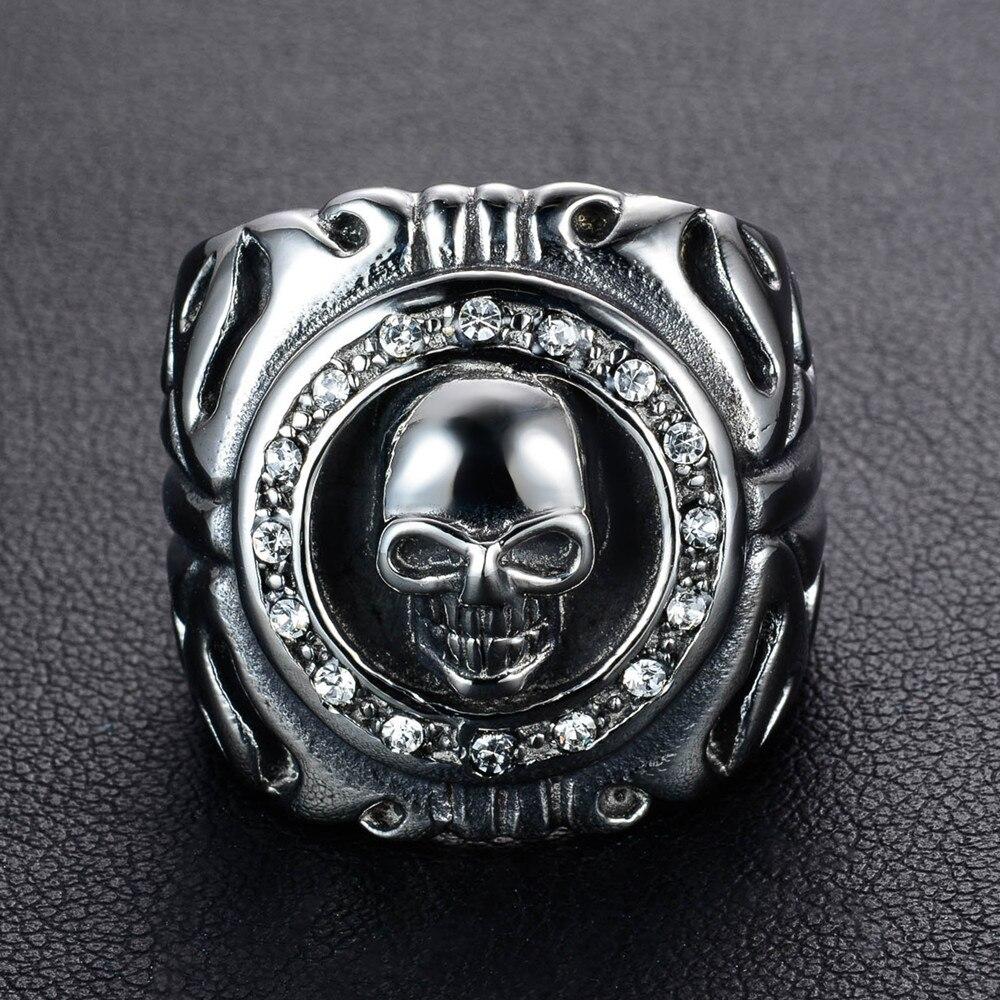 แหวนโคตรเท่ห์ Code 015 แหวนพังก์ Biker สแตนเลส3