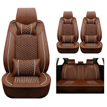 New Luxury PU Leather Auto For Maybach Trabant ALPINA BRABUS MIni Tire Track Detail Styling Car Seat Protector Crossovers Sedans