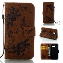 Long Steven]For Samsung A5 2017 Case Butterfly Flower Duplex Printing Leather Wallet Cover For Samsung Galaxy A5 2017 Case Funda(China)
