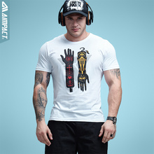Buy Aimpact Mens Hand Print T shirt Fashion Cotton Men Brand Clothing Crew Neck t-shirts High Casual Funny Tshirt Male 6020 for $9.97 in AliExpress store