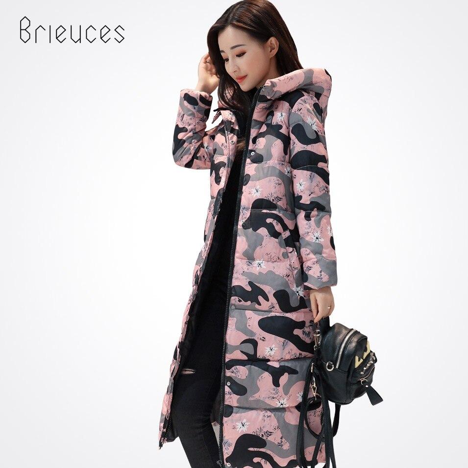 Brieuces New 2017 High Quality Winter Coat Women Casual Warm Hooded X-long Jacket Winter WomenWindproof Parkas Ladies CoatÎäåæäà è àêñåññóàðû<br><br>