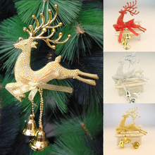 Fashion 1 PC New Deer Hanging Christmas Tree Ornament Home Wedding Party Xmas Decor 3 Colors