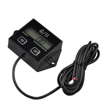 High Performance Car Digital Engine Tach Tachometer Hour Meter Inductive for Motorcycle Car Motor Stroke Engine