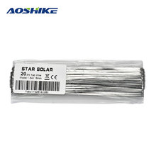 Aoshike Flexible Solar Panel Cell Panneau Solaire 20M 1.8x0.16MM DIY Welding Dedicated Tinned Copper Strip DIY Welding Wire(China)