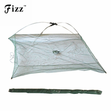 Portable Folding Fishing Net Big Landing Network for Catching Fish Shrimps 60cm*60cm 80cm*80cm 100cm*100cm River Fishing Tackle(China)