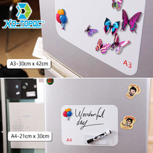 XINDI Flexible Mini Whiteboard Fridge Magnets Soft Message Board Refrigerator Memo Pad Magnetic Notes White Boards Stickers FM03(China)