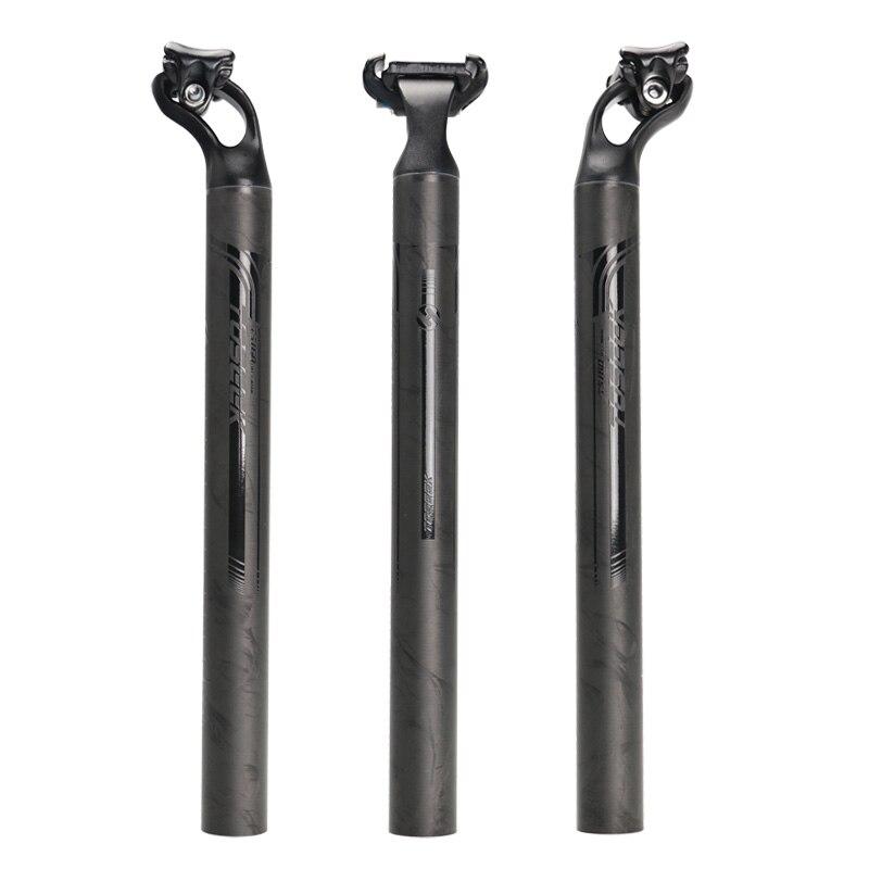 2016 NEW TOSEEK Ultralight aviation aluminum alloy Carbon Fiber Bicycle Seatpost Bike Seat Post 27.2/31.6mm Length 380mm<br>