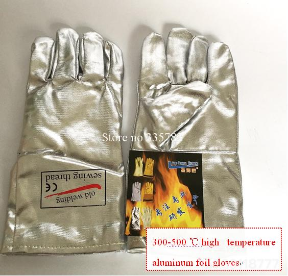 High temperature gloves all Aluminum foil Radiation protection fireproof gloves 300 - 500 degrees Anti-scald protect gloves<br><br>Aliexpress