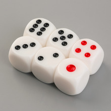 YKS 6pcs/Set 16mm Square Dice Gaming Dices Playing Single Side Number 1-6 Dot New Sale