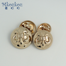 High-grade metal boat anchor button top coat jacket imitation old ancient silver gold buttons