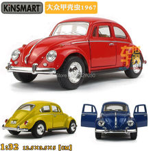 Kinsmart VW Classical Beetle 1967 1:32 5Inch Diecast Metal Alloy Cars Toy Pull Back Car As Gift For Kids(China)