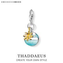 Charm Globe And Sun 925 Sterling Silver For Women And Men Trendy Gift Thomas Style Charm Fit Ts Bracelets Club And Necklace