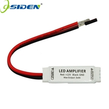 OSIDN DC12V Ultra Slim Mini Portable RGB Led Strip light Amplifier Repeater for RGB 5050/3528/5630/3014 SMD led strip light