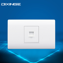 concealed installation electrical Sockets Ethernet telephone TV cable wire outlet wall faceplate American standard Weak current(China)