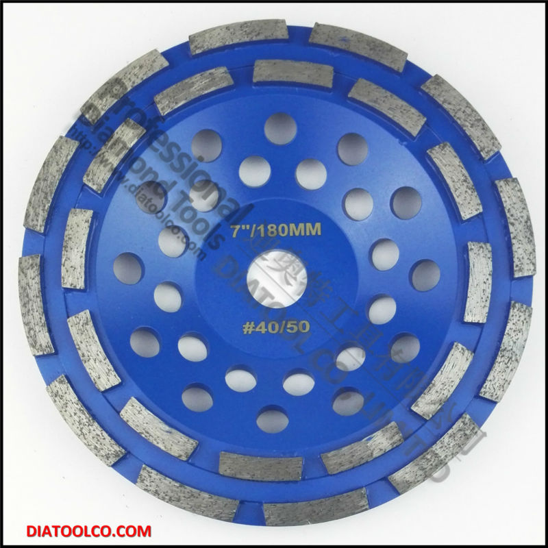 7 inch diamond double row cup wheel for granite &amp; hard material, diameter 180mm grinding wheel grinding disc, bore 22.23mm<br><br>Aliexpress