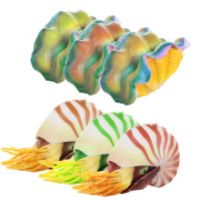 Glowing Artificial Simulation Noctilucent Silicone Nautilus Shell Tank Decor Aquarium Decoration Ornament