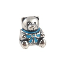 ZMZY Authentic 100% 925 Sterling Silver Charm Girl Teddy Bear Fit Original Pandora Bracelet Necklace Jewelry Gift