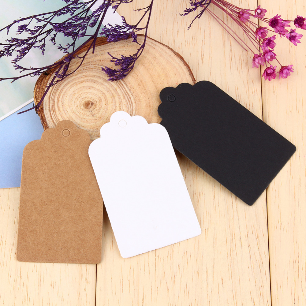 Wholesale Good Quality Kraft Paper Tags for Gift Head Label Festival Wedding Party Note DIY Blank Price Hang Tags(China)