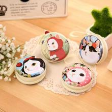 Free ship!1lot=12pc! Cute cat round tin iron box purse/pencil case/mini pouch / key bag/steel box/coin bag