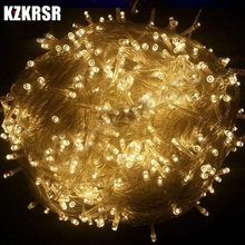 KZKRSR AC110V US Plug /220V EU Plug 10m 20m 30m 50m 100m Outdoor Led string Light for Christmas Tree Wedding Party Garland(China)