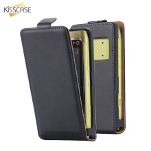 KISSCASE For Nokia N8 Genuine Leather Luxury Business Maganetic Vertical Flip Case For Nokia N8 Korean Style Classic Black Cover(China)