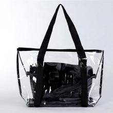 2017 fashion Transparent beach bag crystal jelly bag big shoulder bags Women Handbags Purse Solid Casual Tote(China)