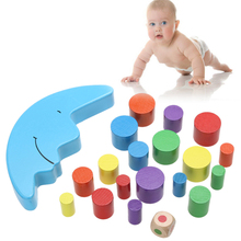 Baby Early Learning Toy Wood Moon Balancing Educational Toys Building Blocks Kids Children Balancing Toy(China)