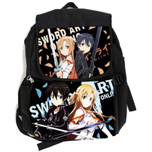Anime Sword Art Online SAO Canvas Nylon Bag Backpack Satchel Waterproof School Bag Cosplay Collection