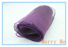 Hot Organza Purple Table Runners Decoration for Wedding Party Christmas Table Runner