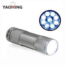 Wholesale 100PCS Mini 9 LED Flashlights promotion gifts torch light YM-809A Free Shipping By DHL