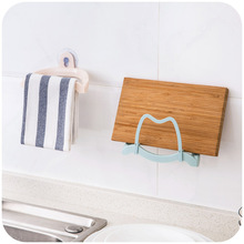 Convenient Wall Shelf Holder Suction Cup Storage Towel Rack Sink Holder Bathroom Kitchen Tools 3D(China)