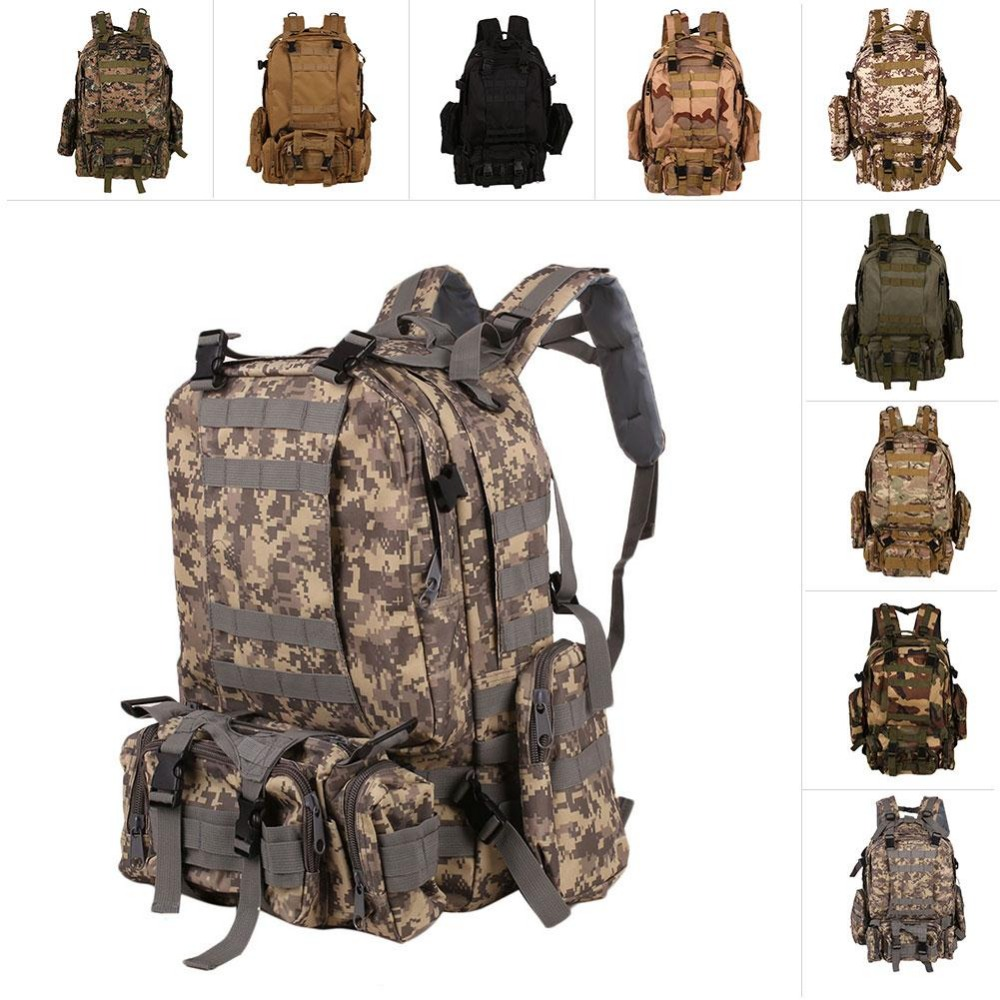 Unisex Outdoor Backpack Vintage Military Backpacks Camouflage Climbing Bags<br>
