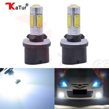 2pcs Car Lights Source 880 PG13 H27W/1 Socket Type Fog Light DRL Lamp High Power 7.5W COB Led Projector With Lens Big Promotion